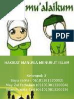 Hakekat Manusai Menurut Islam Kelompok 3