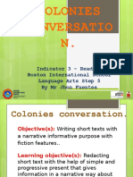 Colonies Conversation