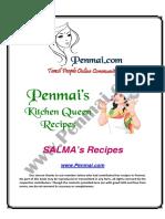 Salma's Recipes PDF - Penmai's Kitchen Queen