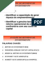 2-Análise de Retorno de Investimento.