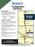 MDOT Brochure on U.S. 23 bridge repairs in Livingston County