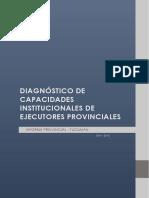 Diagnósitico de Capacidades Institucionales - Tucumán
