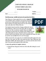 Revision Paper Grade 3