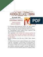 agenda Santa Trinità