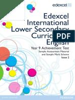InternationalLowerSecondaryCurriculum English Year9 Booklet