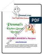 Deepika Mahesh Recipes PDF - Penmai's Kitchen Queen