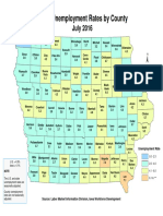 Iowa County Jobless Rate Map July 2016