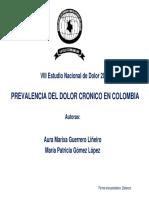 VIII Estudio Prevalencia Dolor Cronico en Colombia Publicación Página ACED 2014
