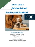 2016 - 2017 staff handbook