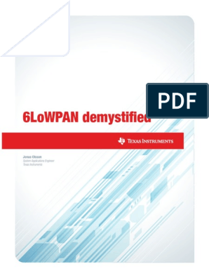 6LoWPAN pdf | Internet Protocols | I Pv6