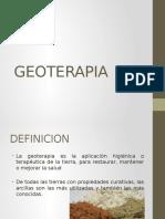 Aplicación y procedimientos con Geoterapia