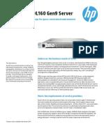 HP ProLiantDL160Gen9 DataSheet