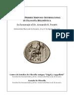 Actas Del Primer Simposio Internacional de Filosofía Helenística. Rosario 2013