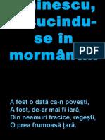 Eminescu, Rasucindu-se in Mormant