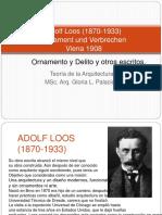 Adolf Loos Teroría de La Arq. 2 Msc. Arq. Gloria Palacios