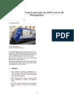 Un Tren en Francia Percuta Un Árbol Cerca de Montpellier