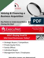 ExecuNet ValuationFinancingWebinarSlides 06-16-2016