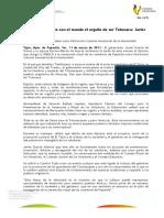 11 03 2011 - El gobernador Javier Duarte de Ochoa recibió diploma de la UNESCO para la Ceremonia Ritual de los Voladores de Papantla.