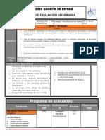 Plan y Programa de Evaluacion 1o 16 17