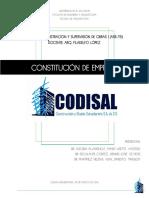 Documento Constitución de Empresa