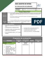 Plan y Programa de Evaluacion 3o 16 17