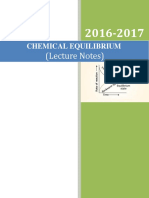 Chemical Equilibrium_Lecture Notes