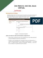 Guía Rápida Para El Uso Del Aula Virtual