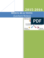 Redox Reactions_Lecture Notes