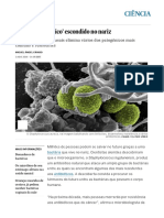 O 'Superantibiótico' Escondido No Nariz _ Ciência _ EL PAÍS Brasil