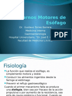 Trastornos Motores de Esófago