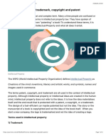 Difference Between Trademark, Copyright, And Patent