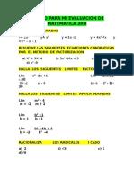 Repaso Para Mi Evaluacion de Matematica 3ro