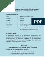 Reglamento Interno de AIP 2016
