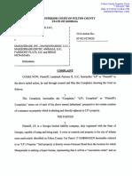 Brock Built lawsuit against Masquerade in Atlanta