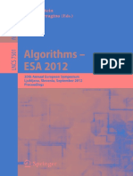 (Lecture Notes in Computer ScienAlgorithms – ESA 2012_ 20th Annual European Symposium