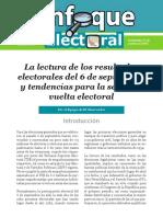 Enfoque Electoral No. 12 La Lectura de Los Resultados Electorales Del 6 de Septiembre