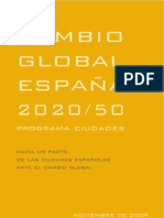 CAMBIO GLOBAL ESPAÑA 2020/50
