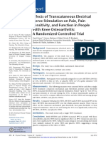 Effects of Transcutaneous Electrical Nerve Stimulation on Pain Pain Sensitivity and Function in People With Knee Osteoarthritis. a Randomized Controlled Trial