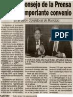 Satélite 12-09-08 AMPE y Consejo de la Prensa firmaron importante convenio