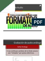 Formatos Audio 2016