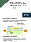INTRODUCCION A LA PROGRAMACION DEV C++