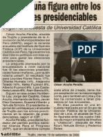 Satélite 19-09-08 César Acuña figura entre los 10 líderes presidenciables