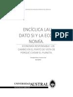 La encíclica Laudato Si y la economía