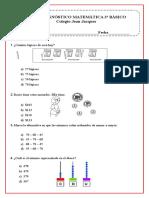 prueba diagnostico 3°año  Matematicas