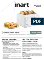 Cuisinart 4 Slice Toaster Cpt-140