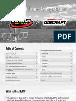Disc Golf Brand Comparison