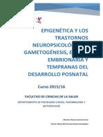 Epigenetica y Los Trastornos Neuropsicologicos