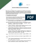 Anexo No. 8 - Requisitos Minimos en Excavaciones