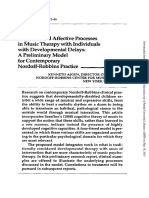 Cognilive and Affective Processes in Music Therapy With Individuals With Developmental Delays a Preliminary Model for Contemporary Nordoff-Robbins Practice