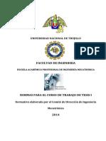 Normas Para Presentación de Proyecto de Tesis-2014